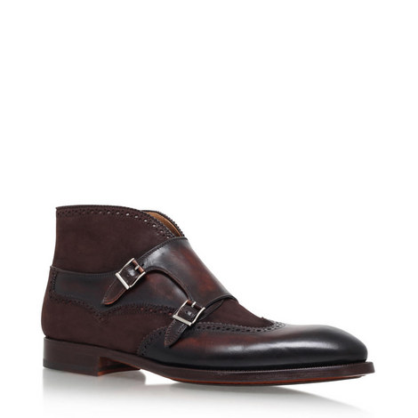 Wingtip Monk Strap Boots, ${color}