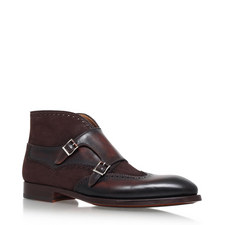 Wingtip Monk Strap Boots