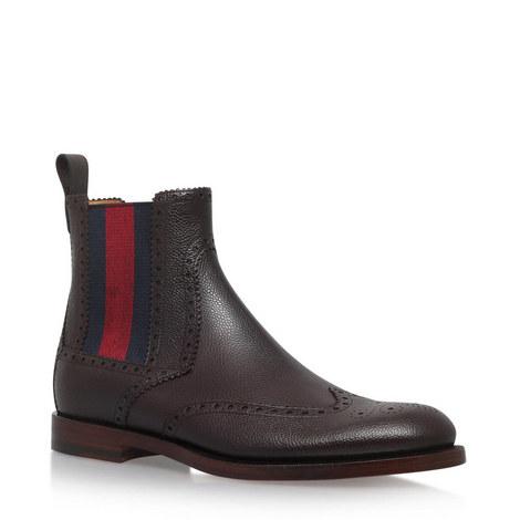 Wingtip Web Chelsea Boots, ${color}