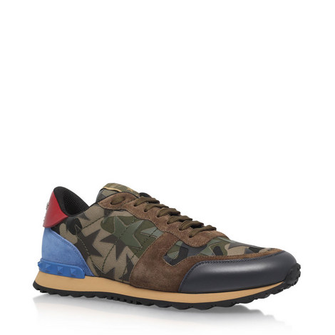 Starstudded Camouflage Trainers, ${color}