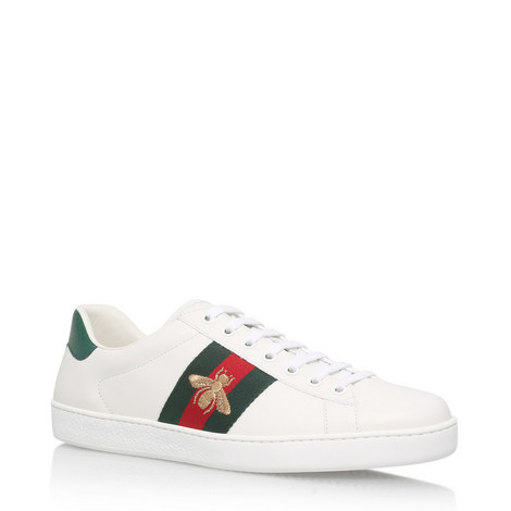 7e159e1d3b0 GUCCI Ace Bee Webbed Trainers