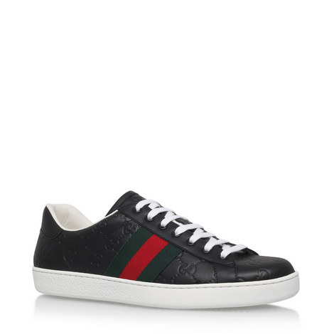 2728a5c4fbe GUCCI Ace GG Signature Trainers