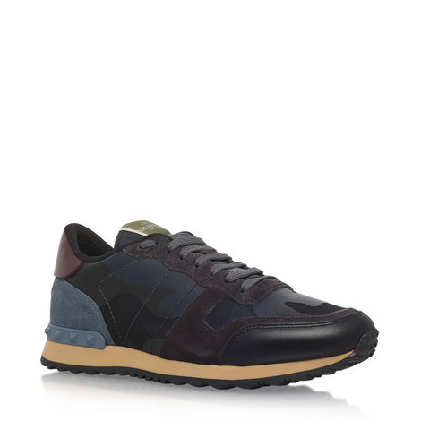 Leather Camouflage Trainers, ${color}