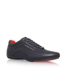 Leather Racing Sneakers