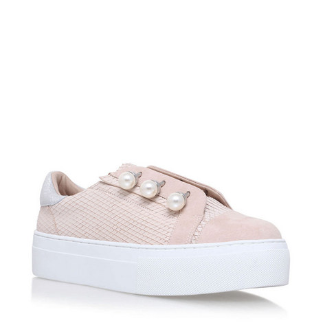 Orla Pearl Embellished Trainers, ${color}
