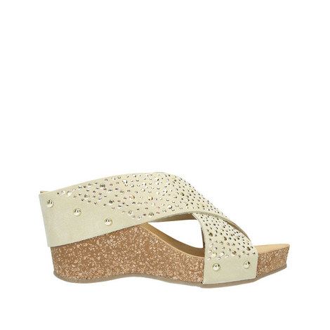 Sooty Studded Wedge Sandals, ${color}