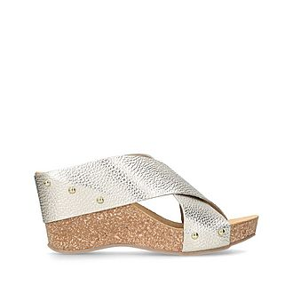 Sooty Wedge Sandals