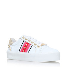 Lax Embellished Grosgrain Trainers