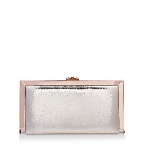 Georgia Embossed Box Clutch, ${color}