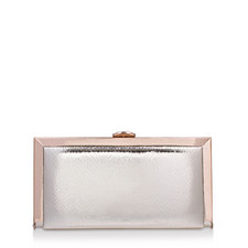 Georgia Embossed Box Clutch