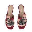 Nala Embellished Suede Slides, ${color}
