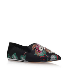 Opal Embellished Jacquard Loafers