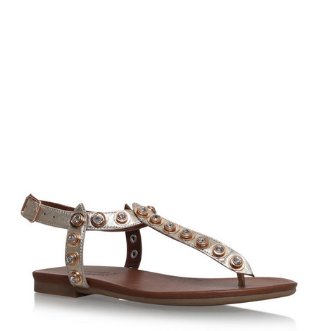 Kave Studded T-Bar Sandals, ${color}