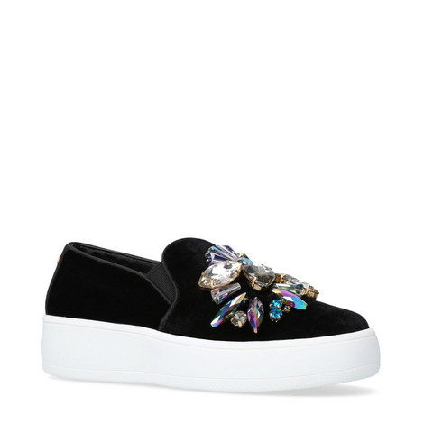 Lorraine Bejewelled Trainers, ${color}