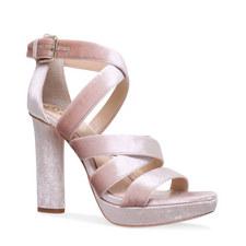 Catyna Velvet Platform Sandals