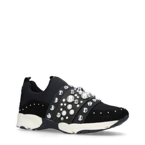 Luck Embellished Neoprene Trainers, ${color}