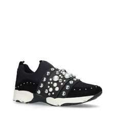 Luck Embellished Neoprene Trainers