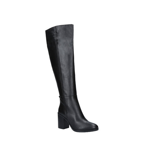 Dora Block Knee High Boots, ${color}