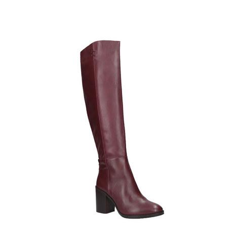 Dora Block Knee High Boots, ${color}