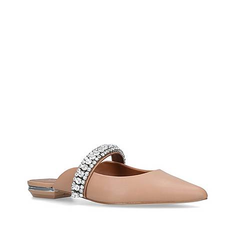 Princely Embellished Leather Mules, ${color}