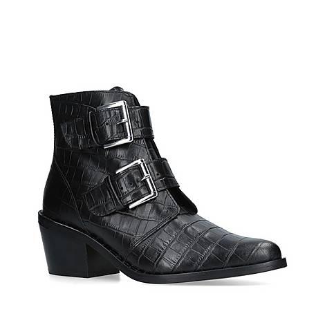 Denny Croc Print Ankle Boots, ${color}