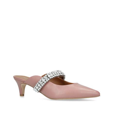 Dutchess Embellished Kitten Heel Mules, ${color}