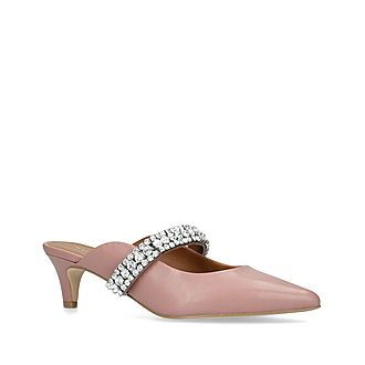 Dutchess Embellished Kitten Heel Mules