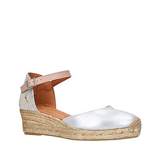 Minty Leather Wedge Sandals