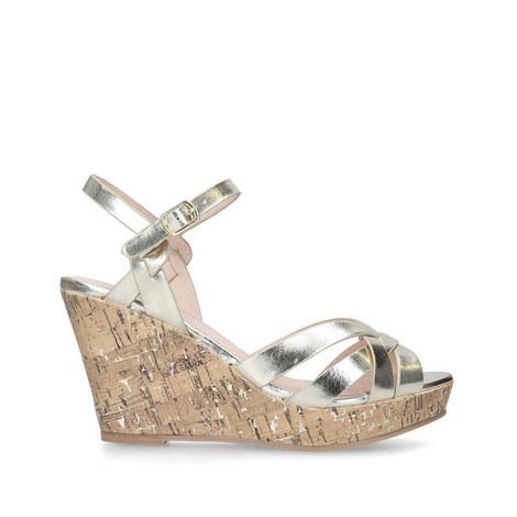 Parisian Cork Wedge Sandals, ${color}