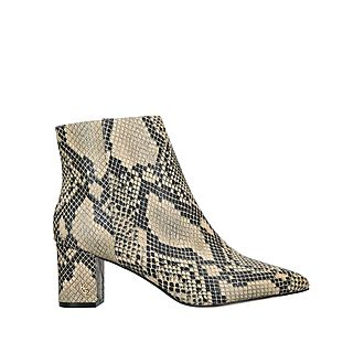 Burlington Snake Print Ankle Boots
