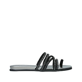 Ezzina Embellished Flat Sandal