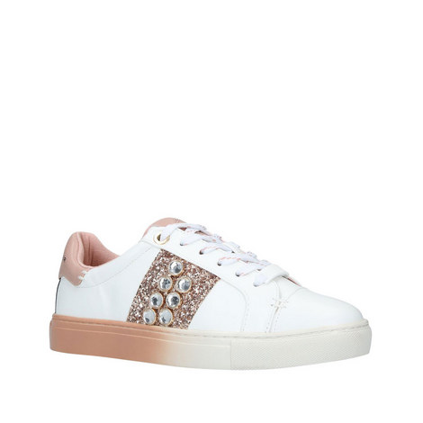 Lana Embellished Low Top Trainers, ${color}