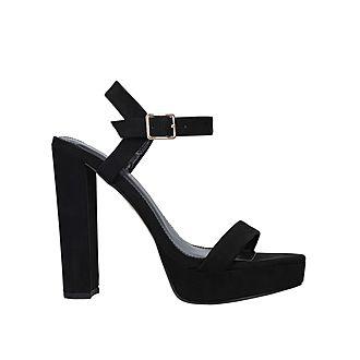 Greed Block Heel Sandals