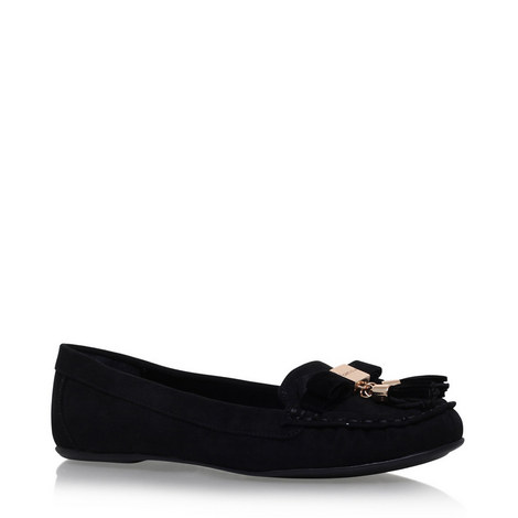 Leaf Leather Loafers, ${color}