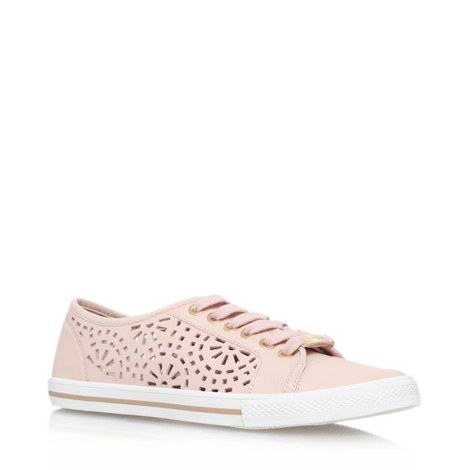 Lantern Perforated Leather Trainers, ${color}