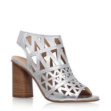 Kupid Laser Cut Block Heels