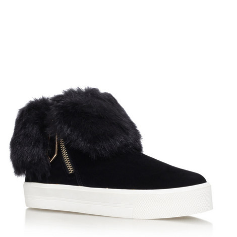 Lille Furry High Top Trainers, ${color}