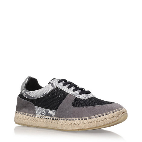 Lindon Sequinned Low Top Trainers, ${color}