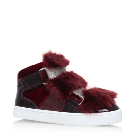 Lovely Faux Fur High Tops, ${color}