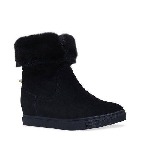 Scorpio Shearling Wedge Boots, ${color}