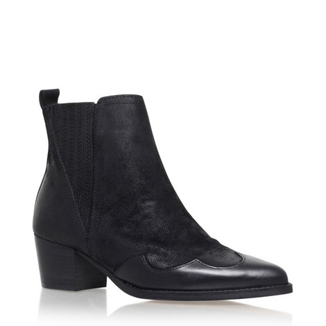Saint Western Ankle Boot, ${color}