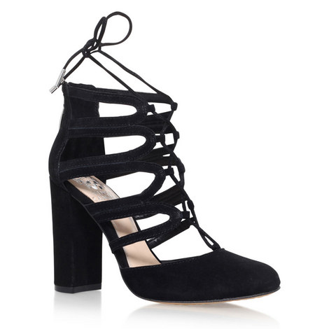 Shavona Lace-Up High Heel Shoes, ${color}