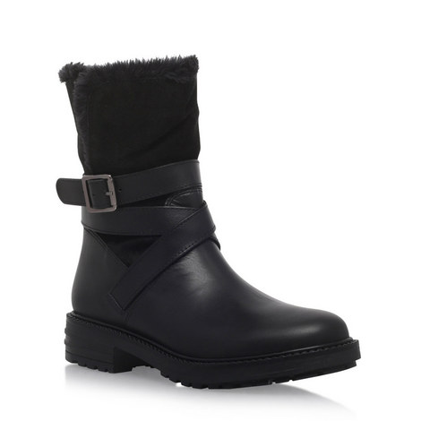 Soldier Buckle Biker Boots, ${color}