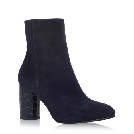 Smile Embossed Heeled Boots, ${color}