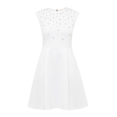 Yadara Embellished A-Line Dress, ${color}