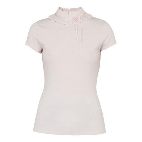 Nicohla Ruffle Neck T-Shirt, ${color}