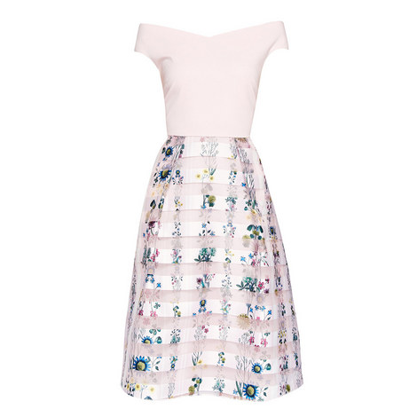 Lulou Unity Floral Bardot Dress, ${color}