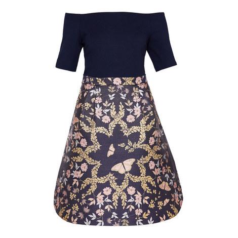 Lydda Off-Shoulder Dress, ${color}