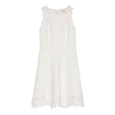Emmona Needlework Shift Dress, ${color}