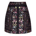 Addizon Floral Jacquard Mini Skirt, ${color}